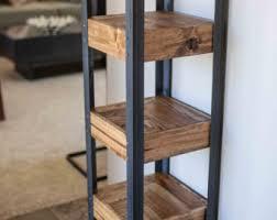 Pallet Wood Bookshelf Pallet Wood And Metal Leg Bookshelf