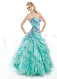 pretty blue ball gown organza appliques quinceanera dresses
