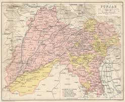 Uchicago Map Spherical Musings Pre Partition Map Of Punjab