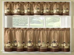 Wine Bottle Kitchen Curtains Wine Themed Kitchen Valances Home Design And Decorating Ideas