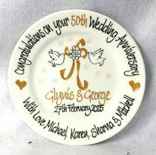 50th anniversary plates you can engrave 7 best anniversaries images on 50 wedding anniversary