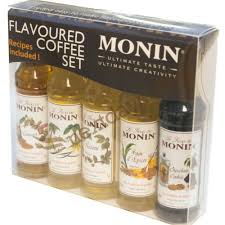 coffee gift sets monin flavoured coffee gift set 5 mini bottles