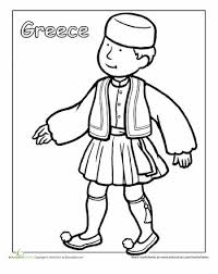 tradtional irish dress coloring pages coloring