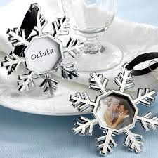 snowflake place card picture frame tree ornaments set of 4