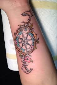 new simple compass tattoo designs ideas for men