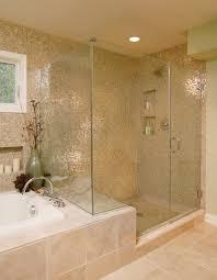 badezimmer fliesen mosaik dusche badezimmer gestaltung glas mosaik fliesen pfirsich farbe glas