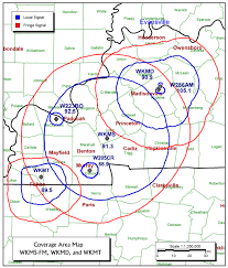 Murray State Map by Frequencies U0026 Coverage Area Wkms