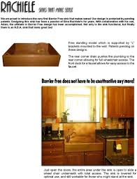 rachiele copper ada barrier free kitchen sinks custom made in the usa