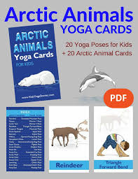 11 arctic animals poses for printable poster