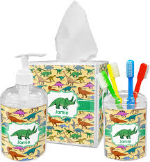 Black Bathroom Accessories by Dinosaurs Bathroom Accessories Set Personalized Potty Training