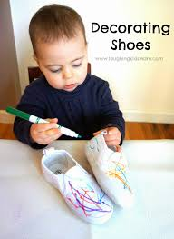 Decorate Shoes Decorating Shoes Laughing Kids Learn