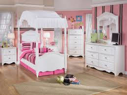 Pink And White Striped Rug Furniture Carved White Wooden Canopy Beds With White Valance And