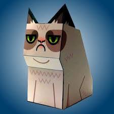 grumpy cat papercraft tektonten papercraft