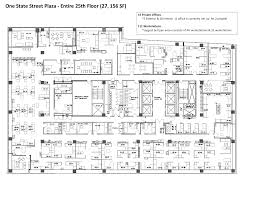 nyc floor plans one state street plaza 1 state street 25th floor vts