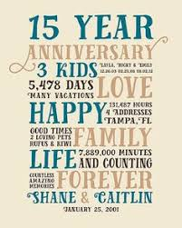 15 year anniversary gift ideas for him 15 year anniversary present fifteen year wedding anniversary gift
