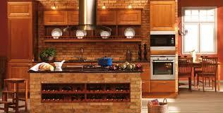 brick kitchen ideas like brick on island kitchen with brick walls and white cabinets