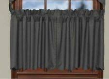 Gray Cafe Curtains Solid Pattern 100 Cotton Cafe Tier Curtains Ebay