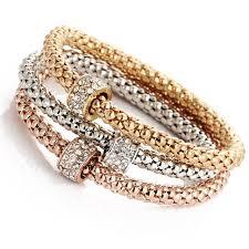rose gold crystal bracelet images 2016 fashion bangle cuff bracelet sell hot gold silver rose gold 3 jpg