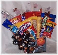 fathers day gift basket sports theme snack food gift basket for s day
