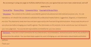 disclaimer for amazon associates termsfeed