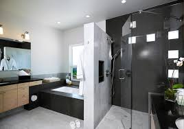 master bathroom design the clean lines and the wall between shower and tub master