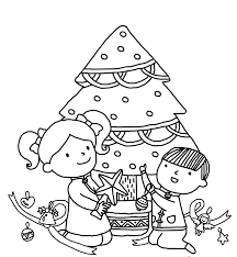 christmas tree kids drawing easy drawings