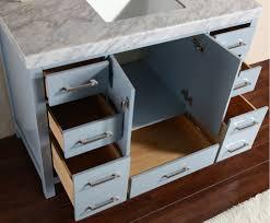 malibu gray single modern bathroom vanity with side cabinet and