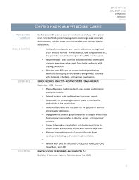 captivating resume of a sap business analyst for your senior