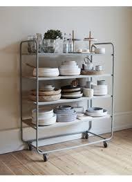 metallregal küche trolley metallregal passend für küche oder wohnzimmer