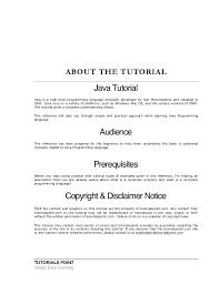 tutorialspoint netbeans java tutorial tutorialspoint