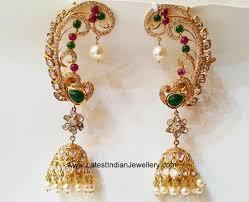 peacock design earrings peacock design all earrings peacocks and ear rings