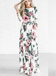 floral dresses women s sleeve floral maxi prom dress girlonstyle