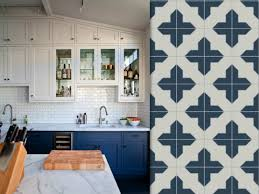 Blue Kitchen Tiles Blue And White Cement Tiles Reading My Mind Future House