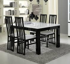 table de cuisine 8 places table de salle à manger design laquée blanche et krista