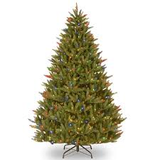 feel real fraser fir artificial tree multi color lights