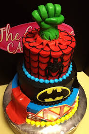 easy superman cake