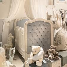 dolce notte upholstered crib antique white with blue velvet
