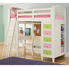 Full Size Bed For Kids Bedroom Custom Diy White Bunk Bed Design For Kids Featuring