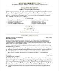 executive secretary resume resume templates
