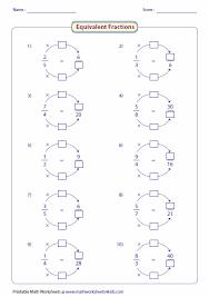 equivalent fractions worksheets 4th grade fractions worksheets
