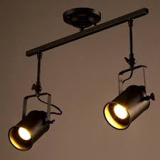 led ceiling track lights modern industrial led ceiling l bars clothing store 2 head long