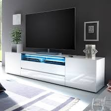 Tall Tv Stands For Bedroom Genie Wide Tv Stand In High Gloss White With Led Lighting Lcd Tv
