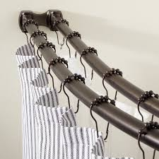 L Shaped Shower Curtain Rod Oil Rubbed Bronze Curved Commercial Grade Double Shower Curtain Rod Bathroom