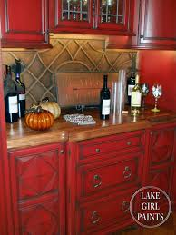 Country Kitchen Cabinet Red Country Kitchen Cabinets Kitchen Kitchen Crafters
