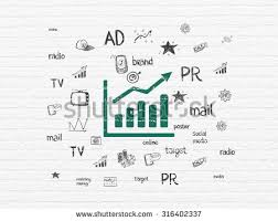 marketing concept painted black growth graph stock illustration