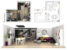 plans et coupe 3d pour l u0027aménagement et la décoration d u0027une maison