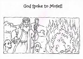 moses and the burning bush coloring page glum me