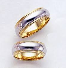 two tone wedding rings two tone wedding bands two shall become one applesofgold