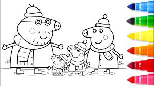winter coloring pages peppa pig coloring book videos kids