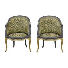 Grey Yellow Chair 35 Off Country French Grey And Yellow Accent Chairs Chairs